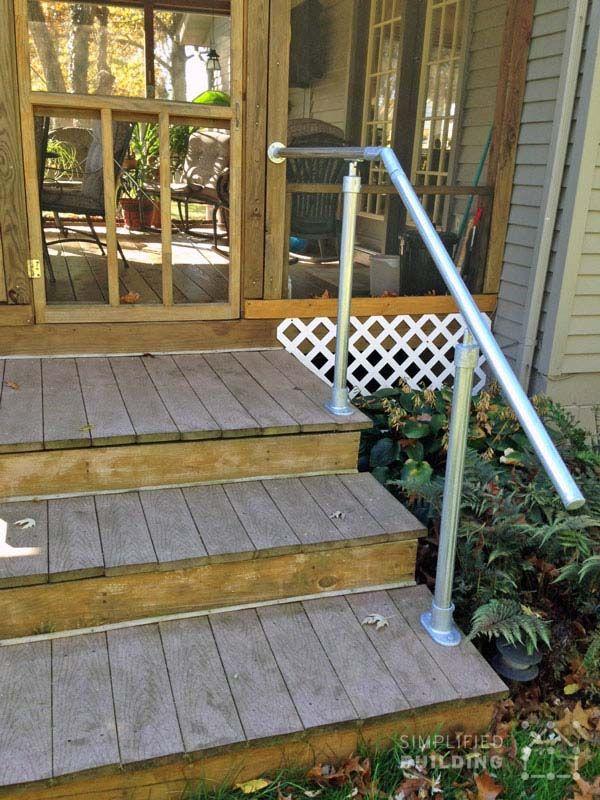 Back Steps Deck Railing Outdoor Stair Railing Railings Outdoor