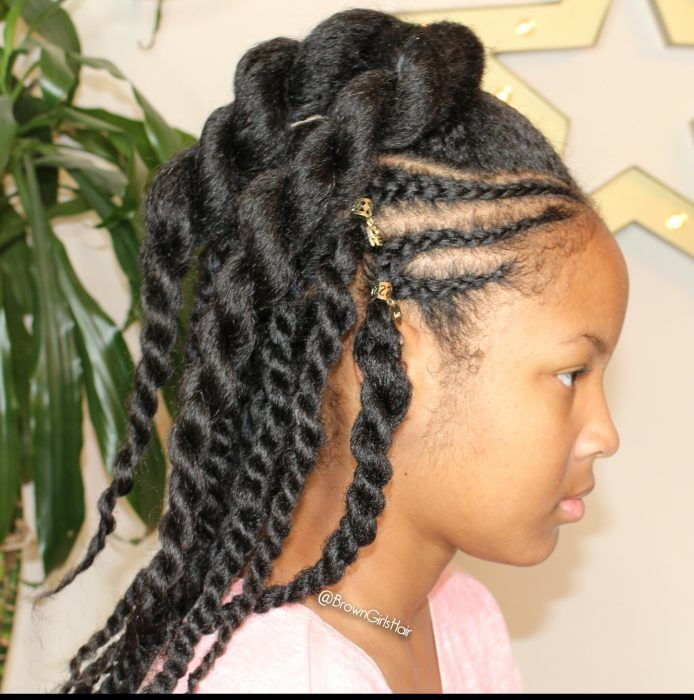 Twisties Hairstyles Cornrows & Twists Hairstyle With Tutorial Httpwwwbrowngirlsstyle