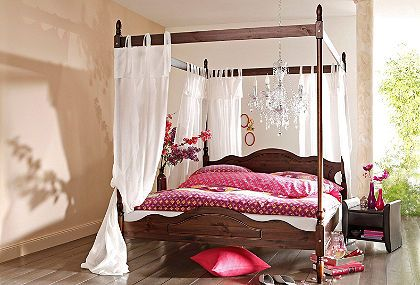 himmelbett home affaire bett himmelbett bett und. Black Bedroom Furniture Sets. Home Design Ideas