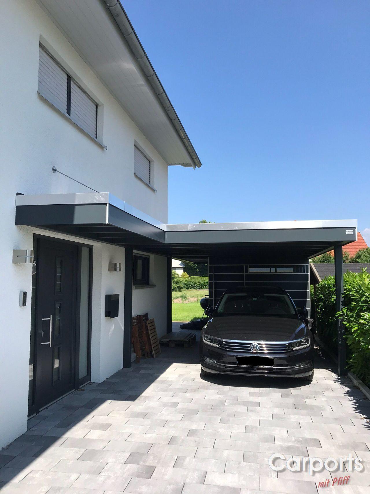 Carport Bauhhaus Hpl Mit Abstellraum Und Vordach Carport Mit Abstellraum Hausturuberdachung Vordach