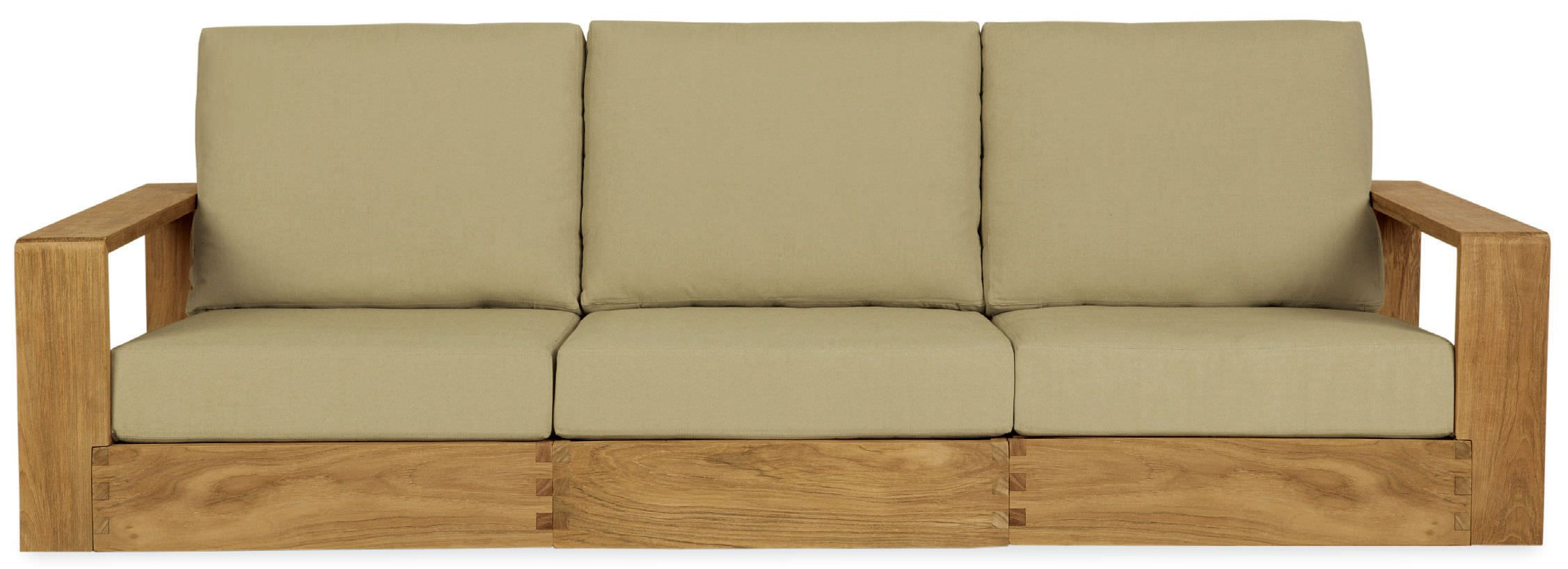 Contemporary sofa / teak / garden / indoor POOLSIDE by John Hutton ...