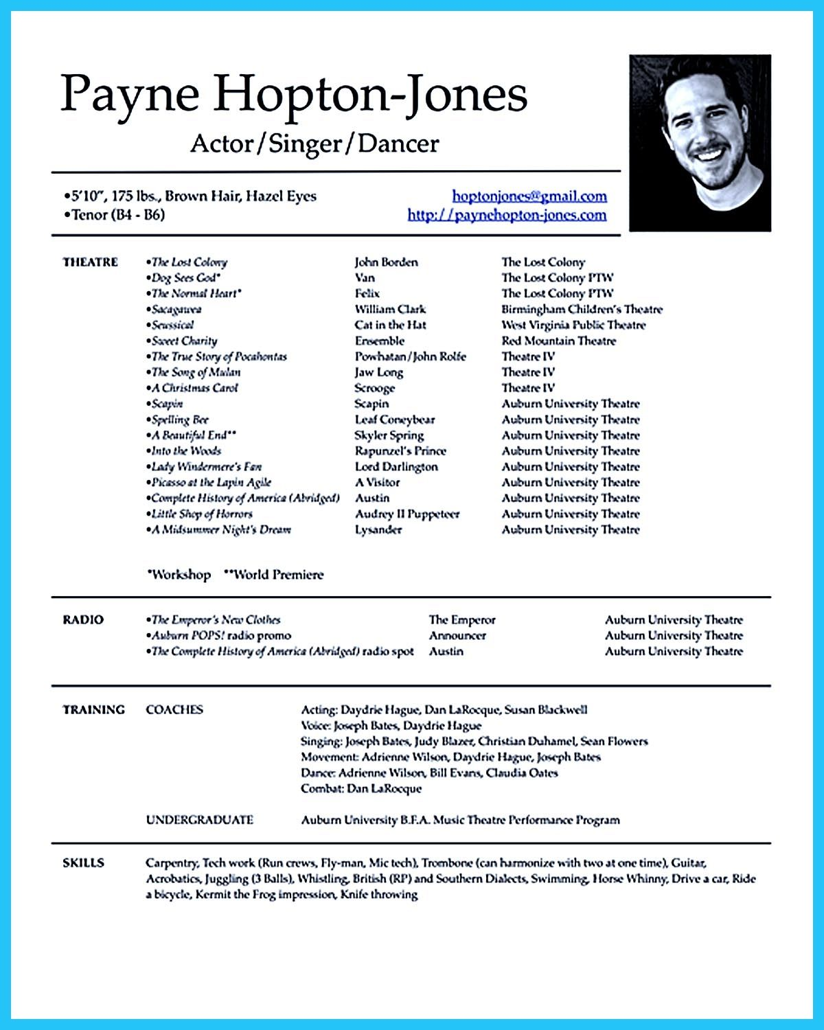 Image result for acting resume template for kids Acting