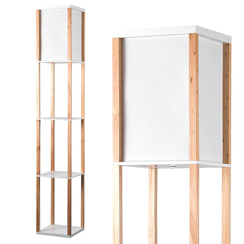 Lena 160cm Column Floor Lamp | Wooden floor lamps, Floor