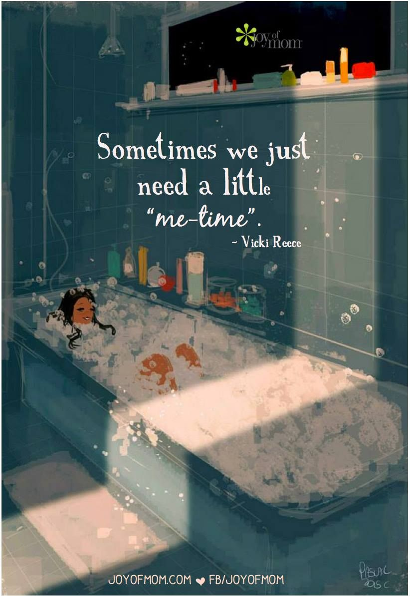 """We all need a little """"me-time"""" every now and then. Especially as mothers.   Illustration courtesy of @PascalCampionArt"""