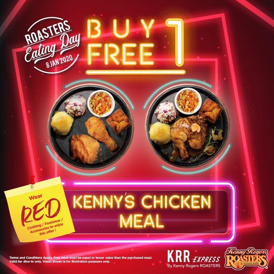 Kenny Rogers Roasters Eating Day Buy 1 Free 1 Promotion 8 January 2020 Eat Food Advertising Food Menu