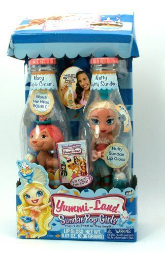 Yummi-Land Sundae Pop Girls - Macy Maple Cream and Natty Nutty Sundae by MGA Entertainment. Save 47 Off!. $15.99. Collect the Caps. Secret Message. For age 4 and up. Scented Doll and Scented Pet. Hair Brush included. Yummi-Land Sundae Pop Girls, they are as sweet as they smell!