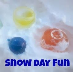 5 great ideas for simple snow day fun from TheMakerMom.com! (ice orbs are pictured)