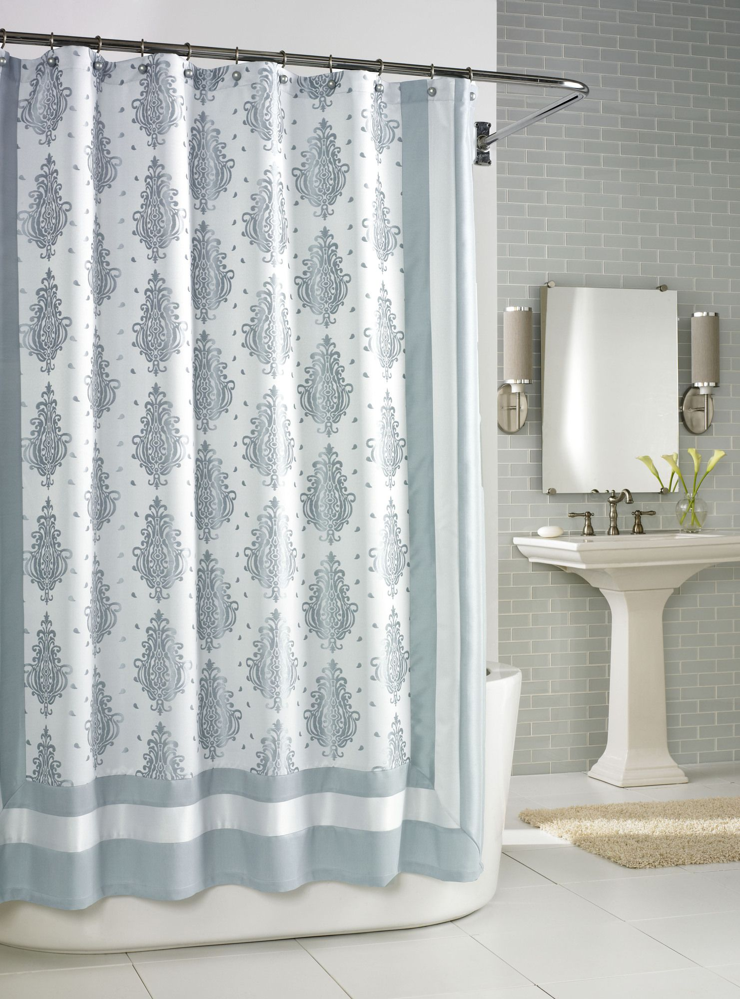 Kassatex Roma Shower Curtain in Seafoam | Home: Bathrooms ...