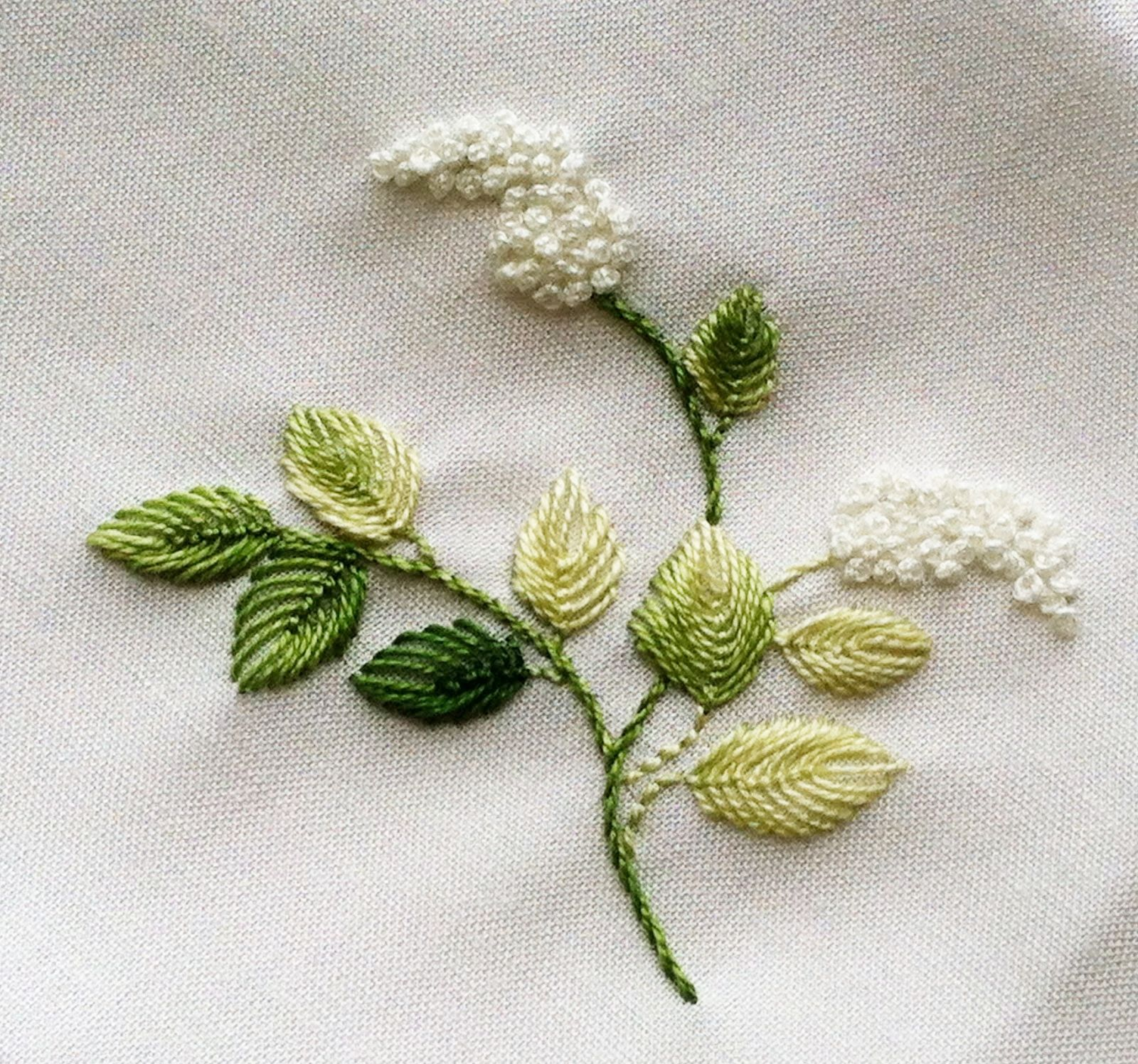Shawkl.com | embroidery | Bordado, Bordado crewel, Bordar hojas