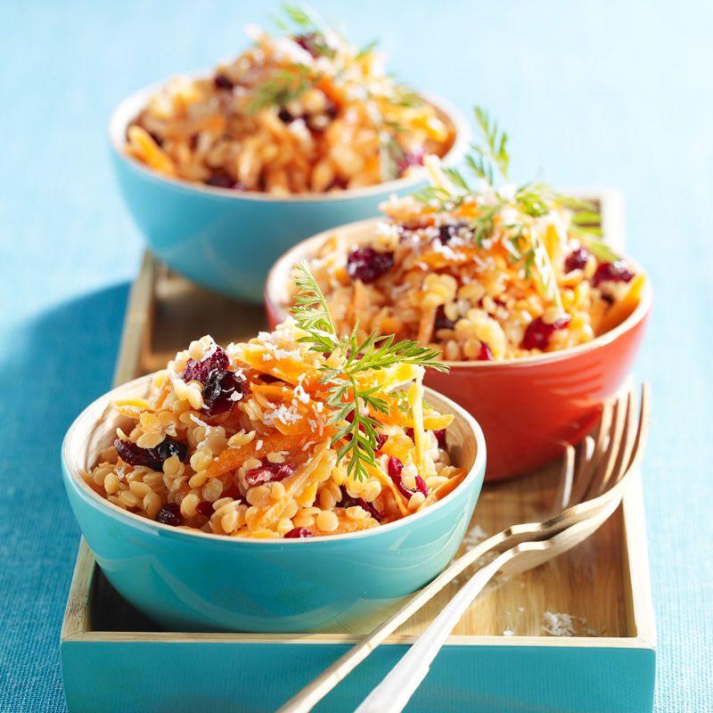 salade de lentilles corail et carottes   recette   salade de