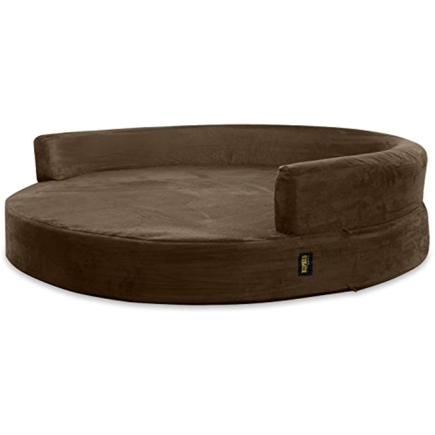 Kopeks Replacement Cover For Deluxe Orthopedic Memory Foam Round Sofa Lounge Dog Bed Large Brown Click Image Fo Dog Lounge Bed Dog Bed Large Round Sofa