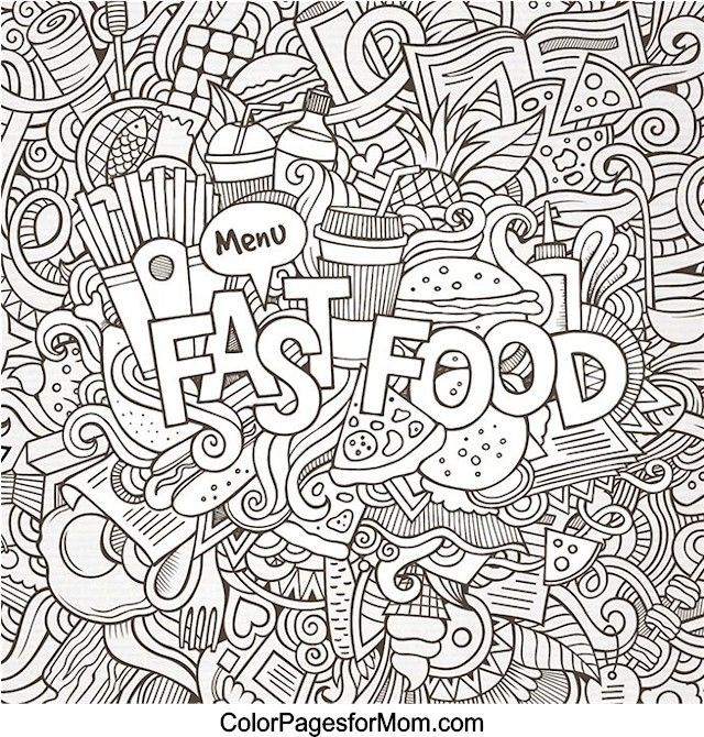 Doodles 41 Coloring Page Mandala Coloring Pages Food Coloring