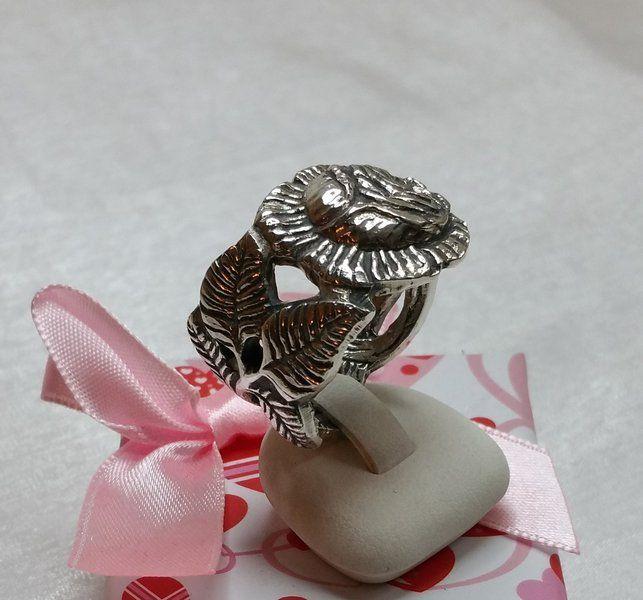 Rosenring 100 Silberbesteck Kuchengabel 20,3 SR514 von Atelier Regina auf DaWanda.com