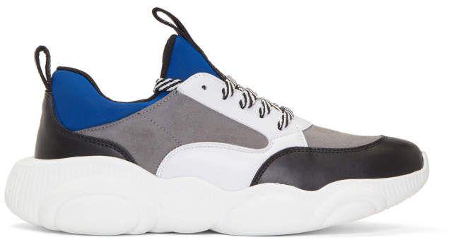 641a1cf422e Moschino Blue Suede Teddy Run Sneakers Tecelagem