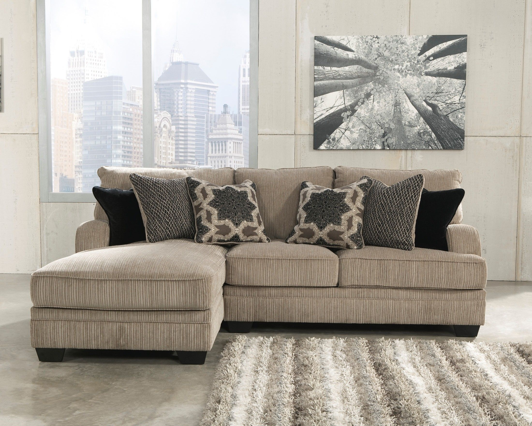 Katisha Platinum Small LAF Chaise Sectional