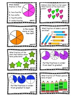 Fractions can be tough to master. Use this fun math center for extra practice or review in your classroom. Includes 20 game cards, game board, and 2 page fraction worksheet- good for homework, assessment, or review.