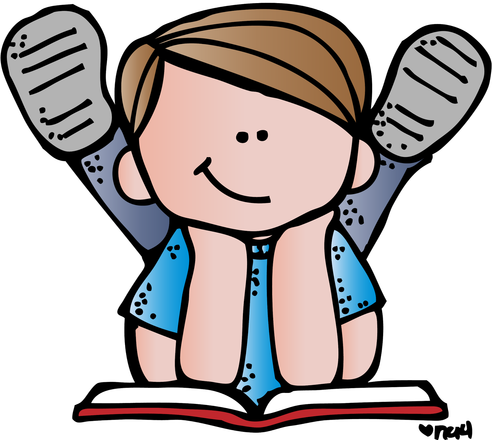 Melonheadz Reading Clipart