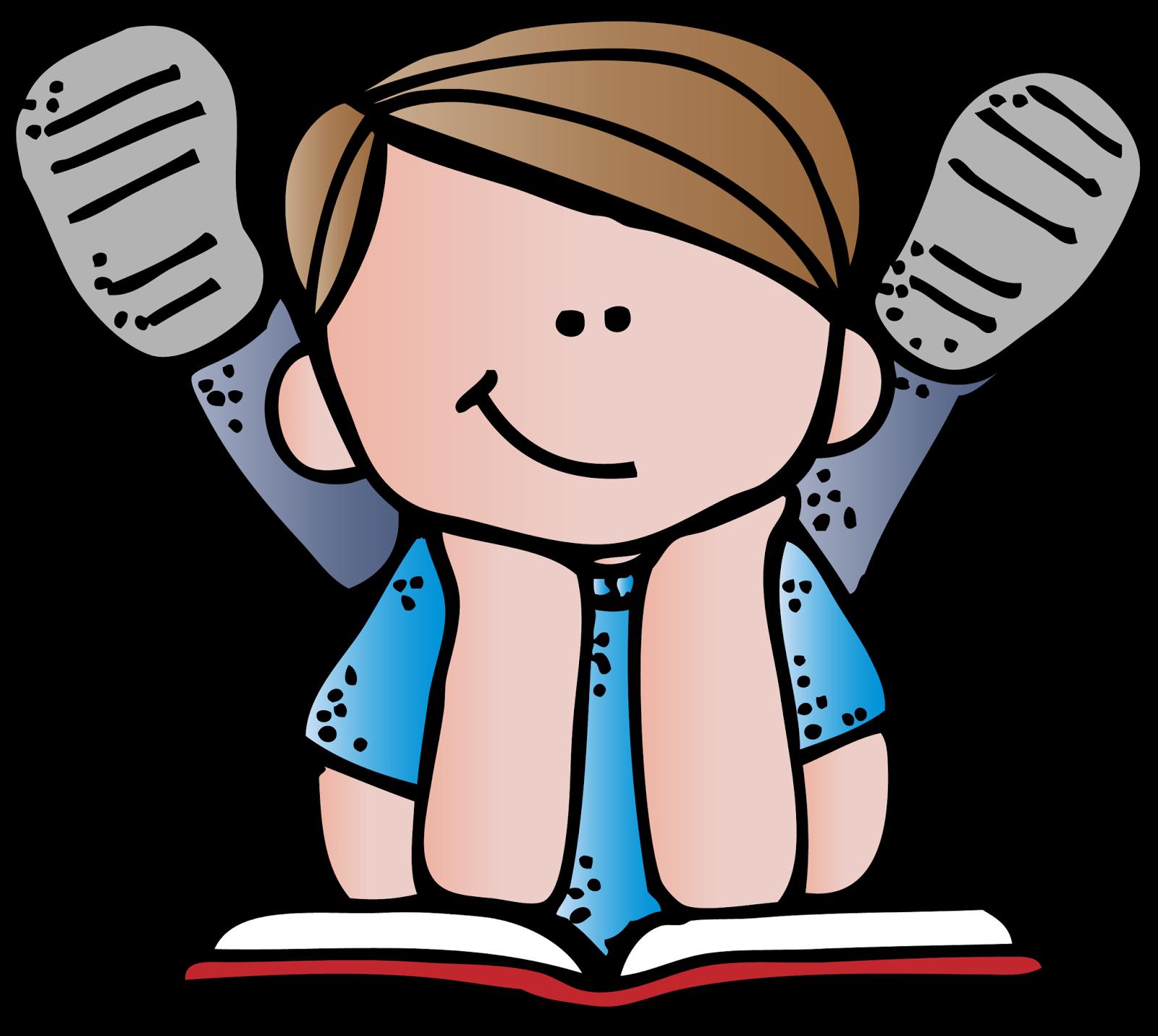 Melonheadz Reading Clipart