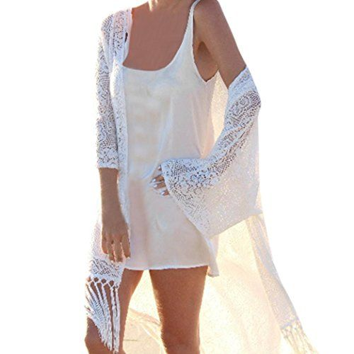 afbfd50467c33 Lookatool 2018 Fashion Tops, Women Shawl Kimono Cardigan Cover Up Beach  Tassel