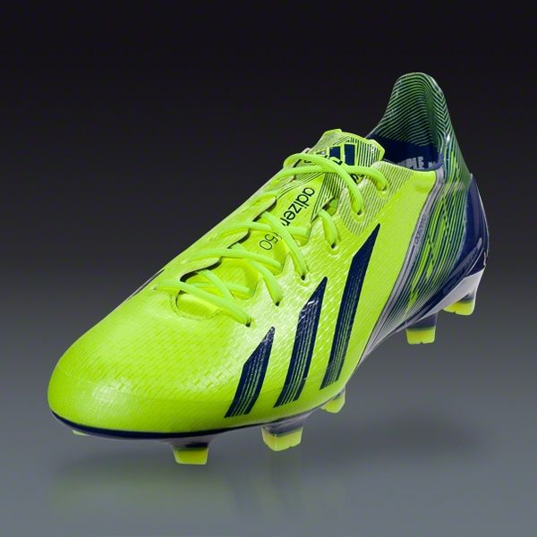 e353bd0416c adidas F50 adizero TRX FG-synthetic - miCoach compatible - Electricity Hero  Ink Metallic Silver Firm Ground Soccer Shoes ~