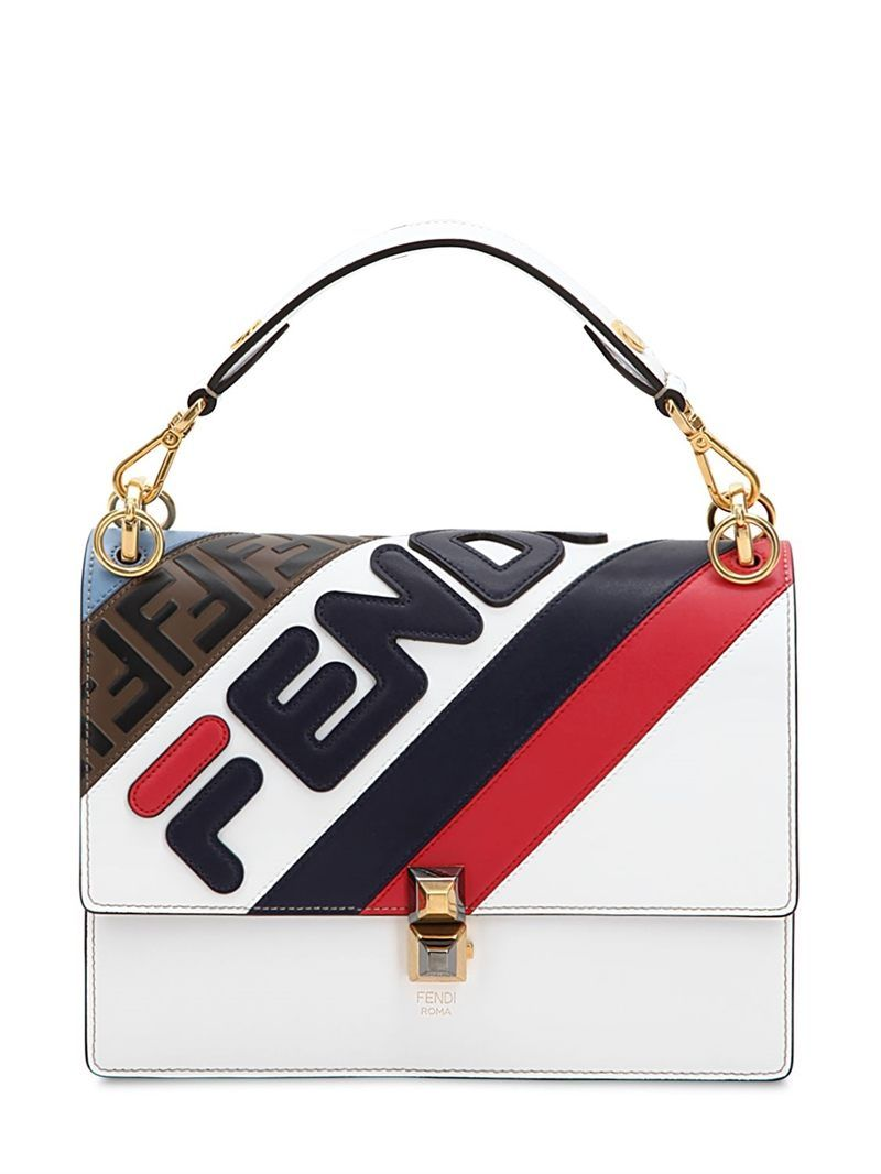 187e3bc88e FENDI - FENDI MANIA REGULAR KAN I LEATHER BAG - WHITE