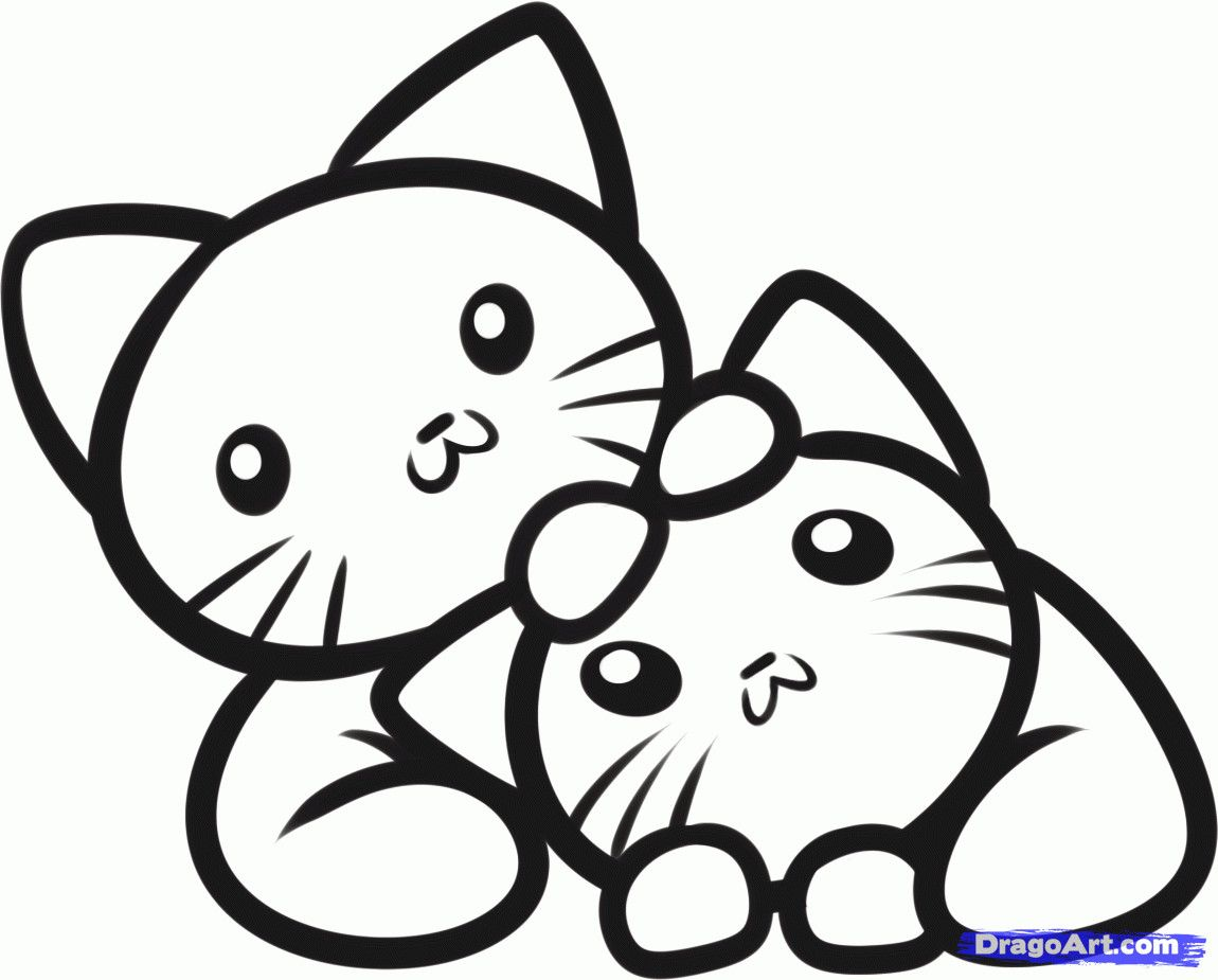 Cute Kitten Coloring Pages Best Of Kittens Drawing At Getdrawings In 2020 Cat Coloring Page Animal Coloring Pages Anime Jewelry