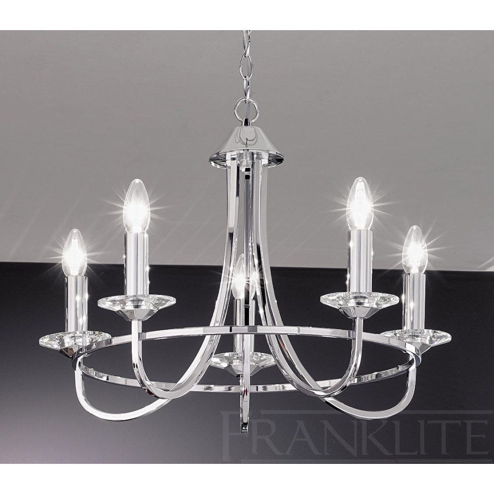 franklite carousel chrome fl  light chrome chandelier  new  - franklite carousel chrome fl  light chrome chandelier