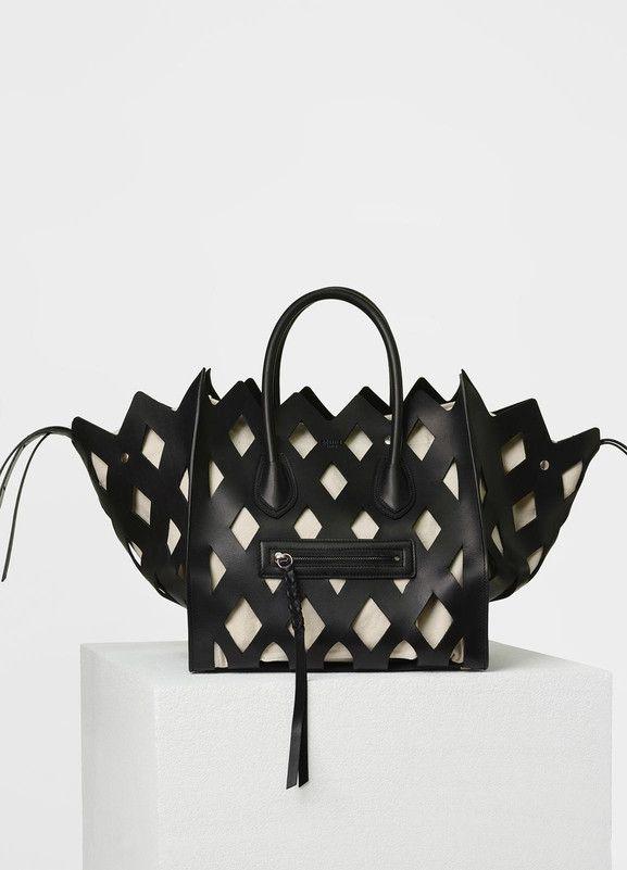 Medium Luggage Phantom Handbag in Natural Calfskin Cut Out - Céline ... 20976c3f0f553