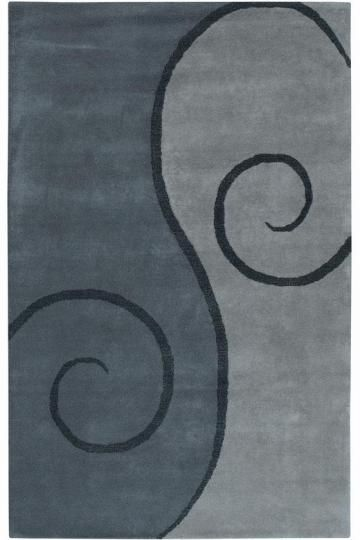 Sale 750 00 9 9 X 13 9 Swirl Rug Contemporary Rugs Hand Tufted Rugs