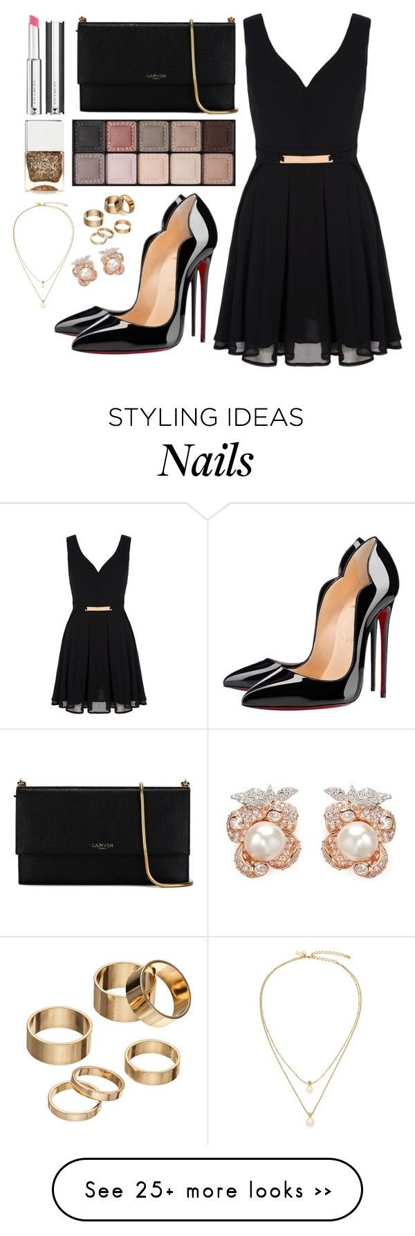 """""""60 Second Style: NYFW After Party"""" by fabubilous on Polyvore featuring Lanvin, Christian Louboutin, Mela Loves London, Givenchy, By Terry, Nails Inc., Apt. 9, Kate Spade and Anabela Chan"""