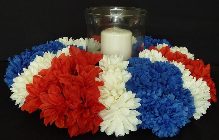 Red White And Blue Banquet Visit Etsy Com Blue Centerpieces