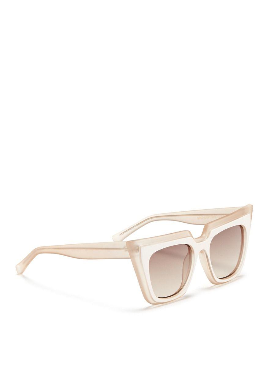 46c414a76b4e Self-portrait - X Le Specs  edition One  Layered Acetate Cat Eye Sunglasses