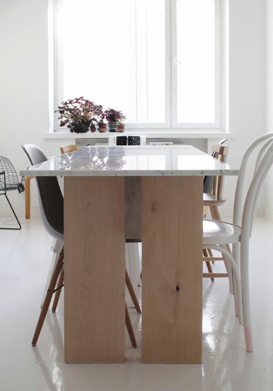 Mesa de mármol | Mesas Comedor Marmol | Dining room design ...