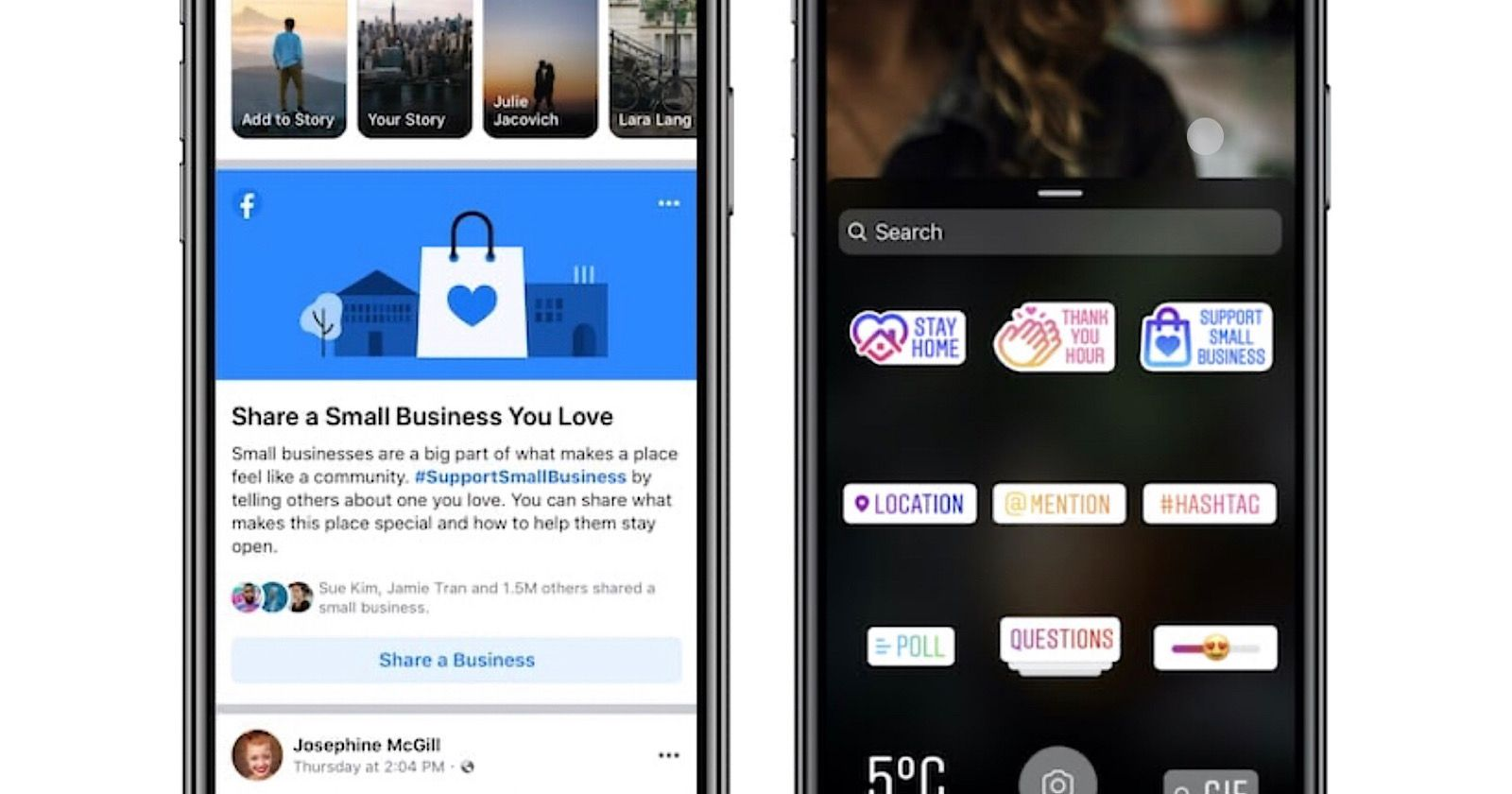 Facebook instagram add more ways to support local