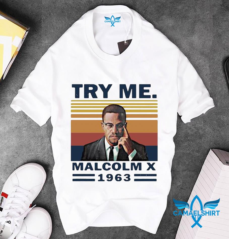 Try Me Malcolm X 19763 Vintage T Shirt In 2020 T Shirts For Women Vintage Tshirts The Walking Dead Halloween