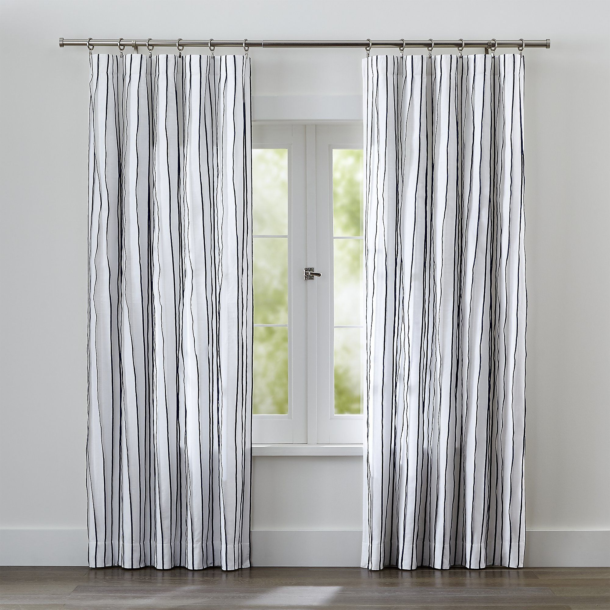 casual crate vertical the panels of striped stripes feature living to cotton blue curtain virtual pleats with curtains chambray along natural create kendal pin room enhanced stitching and barrel