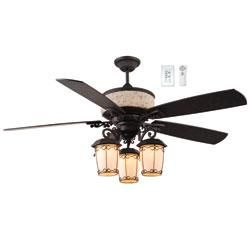 New Orleans Style Indoor Outdoor Fan Residential Lighting