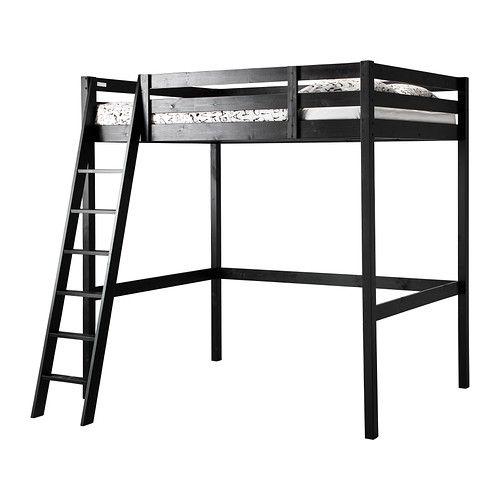 Stora Loft Bed Frame Black Full Double Ikea Ikea Loft Bed Loft Bed Frame Ikea Loft