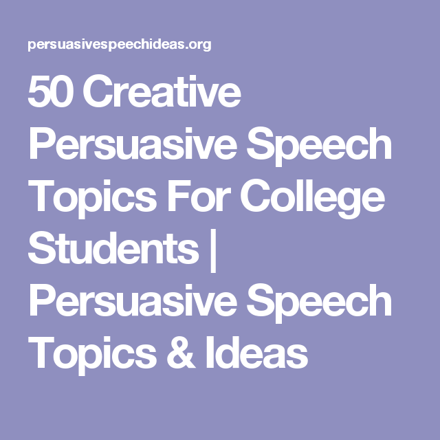 public speaking topics for college students