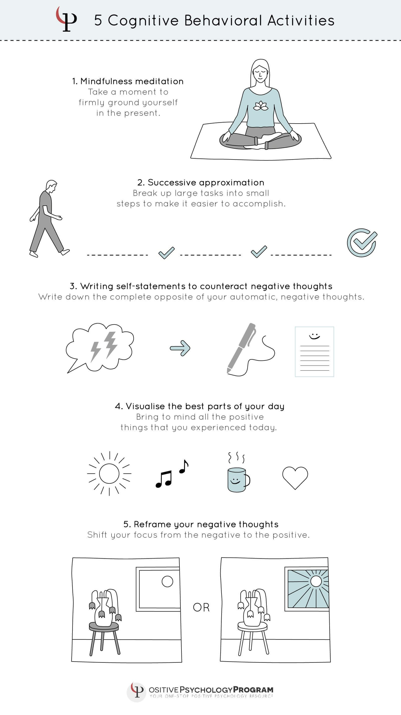 5 Cognitive Behavioral Activities With Images