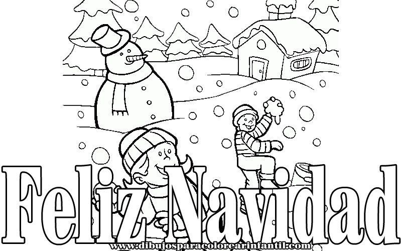 Dibujos de Navidad para pintar Tarjetas de navidad Pinterest - navidad para colorear