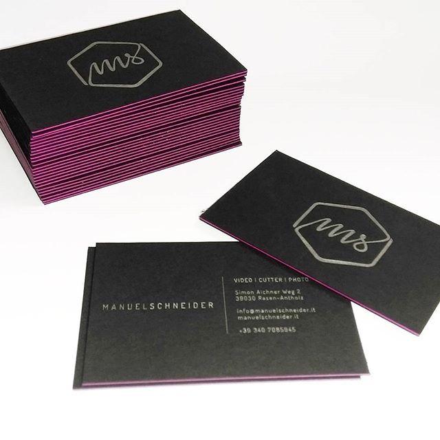 Visitenkarten Druck Pantone Silber Rückseite Offsetdrucke
