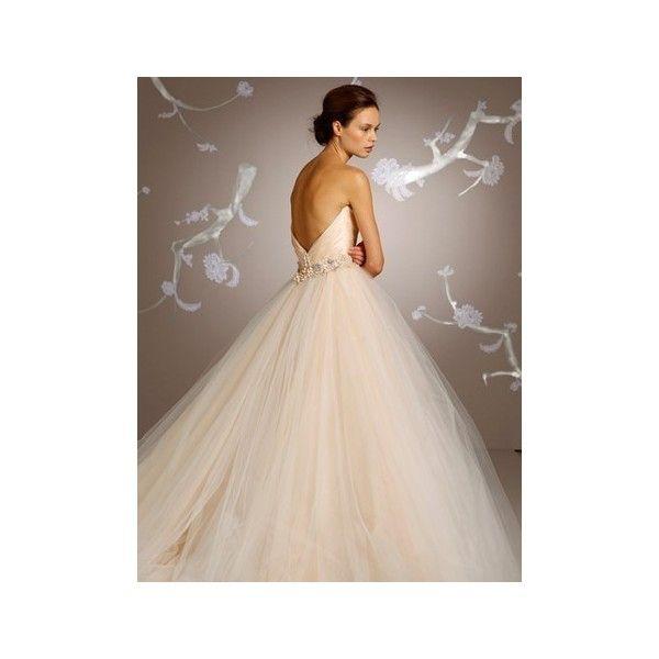 Bridal Gowns: Lazaro Princess/Ball Gown Wedding Dress with Sweetheart Neckline and Empire Waist Waistline