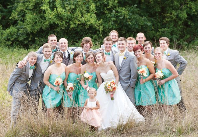 Bridal Party Love The Color Of Bridesmaid Dresses Style