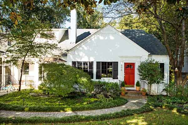 A 1940s House Makes a Fresh Start White siding Exterior and Doors
