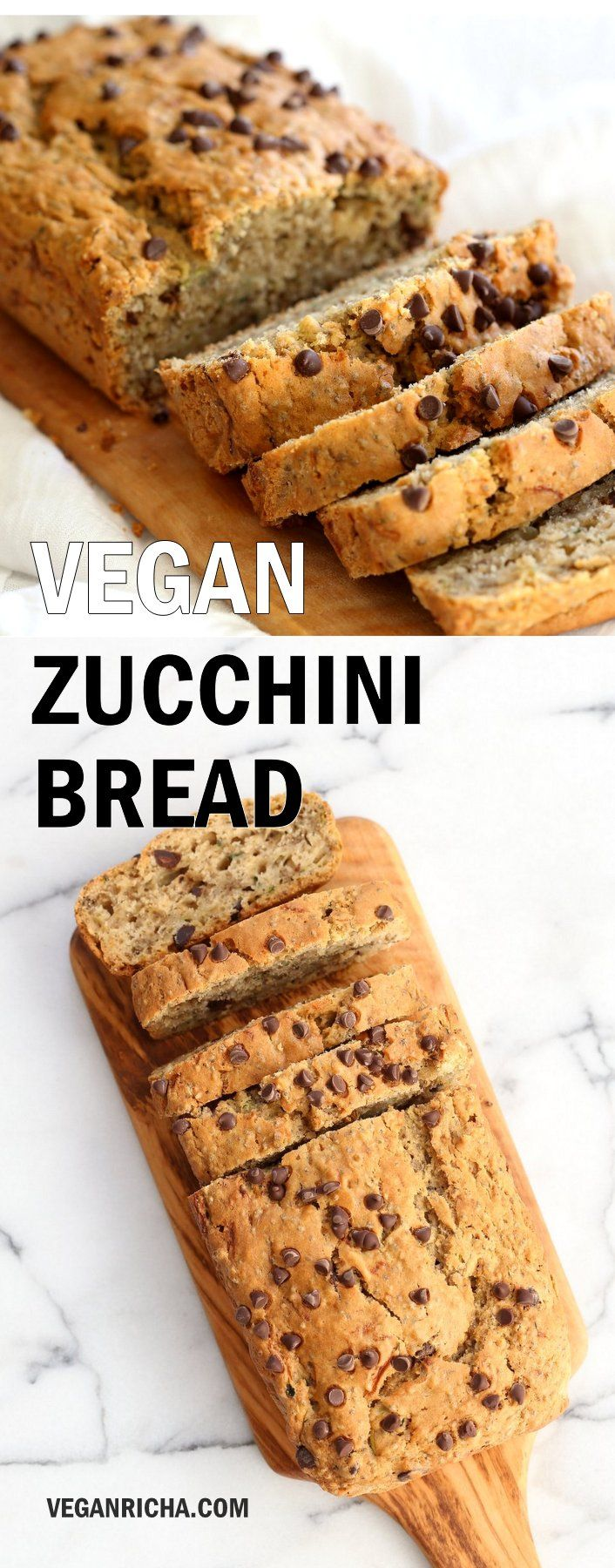 Easy Vegan Zucchini Bread With Chia Seeds Recipe Zucchini Bread Recipes Vegan Desserts Zucchini Bread