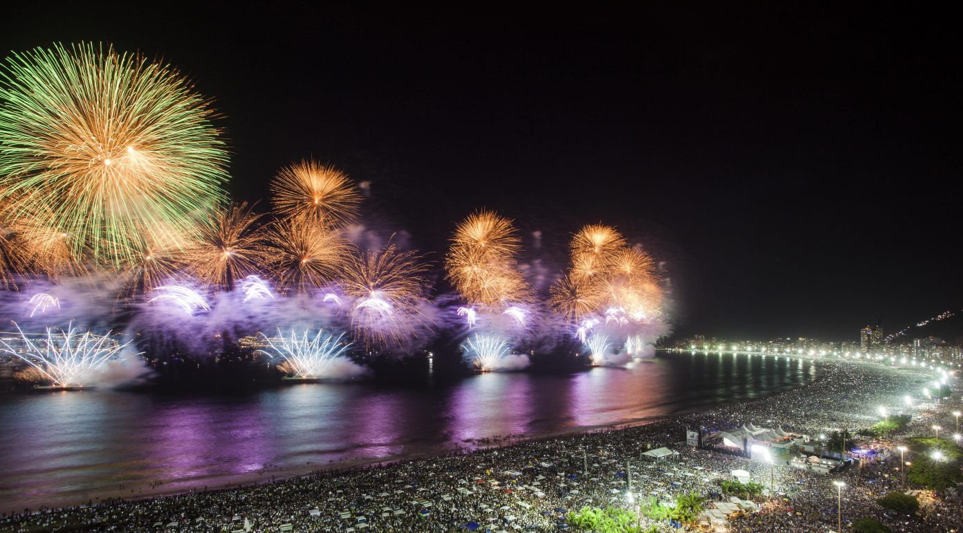Copacabana Beach New Year's Celebration em 2020 Destinos