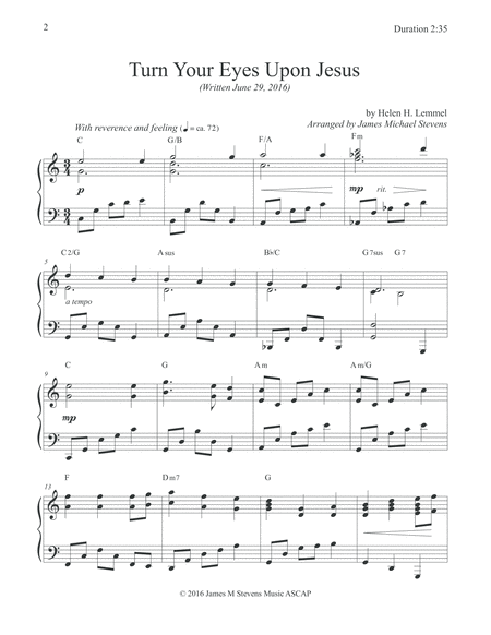Turn Your Eyes Upon Jesus Sacred Piano Sacred Piano Music In