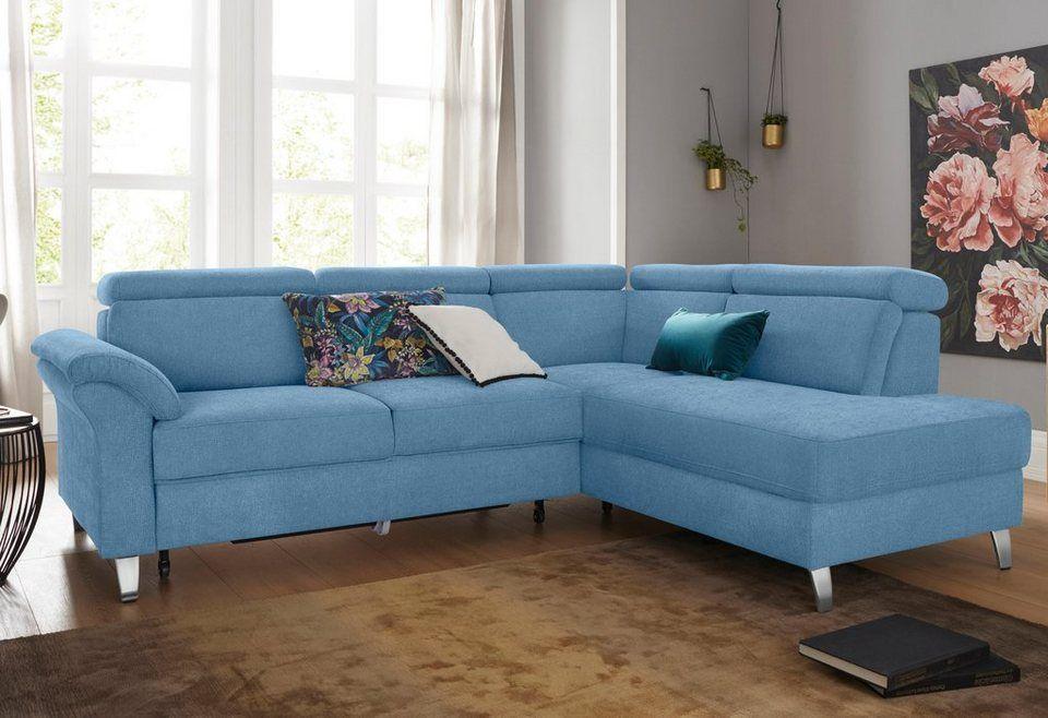Sit More Ecksofa Inklusive Kopfteilverstellung Und Federkern Wahlweise Mit Bettfunktion Online Kaufen Sofa Sofa Mit Bettfunktion Couch Mit Schlaffunktion