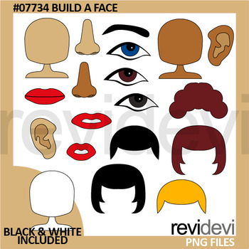 picture relating to Build a Face Printable named Pin upon Clipart 2017 by way of Revidevi